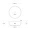 Countertop washbasin / round / concrete / contemporary CIRCUM 42 Urbi et Orbi