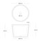 countertop washbasin / round / concrete / contemporary