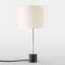 table lamp / contemporary / steel / fabric