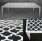 original design side table / metal / rectangular / outdoor