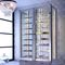 commercial wine cabinet / stainless steel / custom