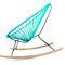 Scandinavian design armchair / leather / plastic / oak