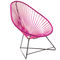 vintage armchair / plastic / lacquered steel / with headrest