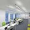 hanging light fixture / fluorescent / linear