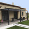 wall-mounted pergola / self-supporting / aluminum / stainless steel