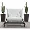 Traditional sofa / garden / fabric / aluminum CANOPO Samuele Mazza by DFN srl