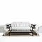 traditional sofa / garden / fabric / aluminum