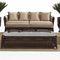 traditional sofa / garden / rattan / 4-seater