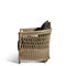 contemporary armchair / fabric / rattan / garden