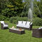 Traditional sofa / garden / resin wicker / 2-seater WEZEN Samuele Mazza by DFN srl