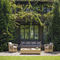 Traditional sofa / garden / rattan / 3-seater VEGA Samuele Mazza by DFN srl