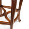 french style bar stool / leather / oak / mahogany