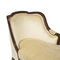 traditional daybed / fabric / leather / oak