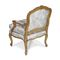 Louis XV style armchair / fabric / cherrywood / bergere