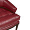 french style office chair / upholstered / fabric / leather