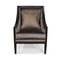 traditional armchair / fabric / cherrywood / black