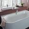 built-in bathtub / oval / acrylic / whirlpool