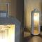 floor lamp / traditional / glass / wooden