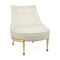 traditional fireside chair / fabric / brass / with footrest