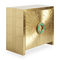 contemporary sideboard / solid wood / brass
