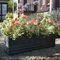 fiberglass planter / rectangular / traditional / for public spaces