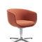 Contemporary visitor armchair / fabric / aluminum / chromed metal NU by Paul Brooks Profim