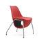 Contemporary visitor armchair / fabric / aluminum / central base PELIKAN by Mac Stopa/M.Ballendat Profim