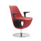 Contemporary visitor armchair / fabric / aluminum / central base PELIKAN by Mac Stopa/M.Ballendat Profim