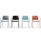 Conference chair with armrests / upholstered / stackable / connected ZOO by Paul Brooks Profim