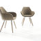 Contemporary visitor chair / upholstered / with armrests / metal FAN by Piotr Kuchciński Profim