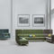 contemporary armchair / fabric / wooden / metal
