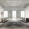 Contemporary visitor chair / HPL / with armrests / cantilever COM by Paul Brooks Profim