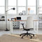 contemporary office armchair / fabric / aluminium / adjustable-height