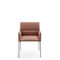 contemporary visitor chair / with armrests / upholstered / fabric