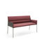 contemporary upholstered bench / leather / plywood / chromed metal