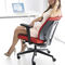 contemporary office armchair / plastic / aluminum / swivel
