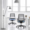 contemporary office armchair / mesh / on casters / star base