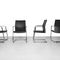 Contemporary visitor chair / metal / fabric / leather MYTURN by Paul Brooks Profim