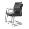 Contemporary visitor chair / stackable / upholstered / with armrests MYTURN by Paul Brooks Profim