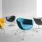 Contemporary armchair / metal / fabric / sled base SORRISO by Jarosław Szymański Profim