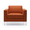Contemporary armchair / metal / leather / commercial MYTURN by Paul Brooks Profim