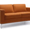 contemporary sofa / leather / metal / commercial