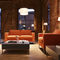 Contemporary sofa / leather / metal / commercial MYTURN by Paul Brooks Profim