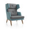 Contemporary armchair / fabric / leather / commercial OCTOBER by Hilary Birkbeck Profim
