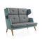 Contemporary sofa / leather / fabric / commercial OCTOBER by Hilary Birkbeck Profim
