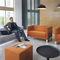 Contemporary armchair / metal / fabric / commercial VANCOUVER LITE Profim