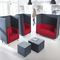 contemporary sofa / metal / fabric / commercial