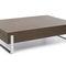 Contemporary coffee table / metal / oak / teak MYTURN by Paul Brooks Profim