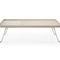 Contemporary coffee table / wooden / metal / rectangular OCTOBER by Hilary Birkbeck Profim