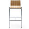 contemporary bar stool / plywood / metal / commercial